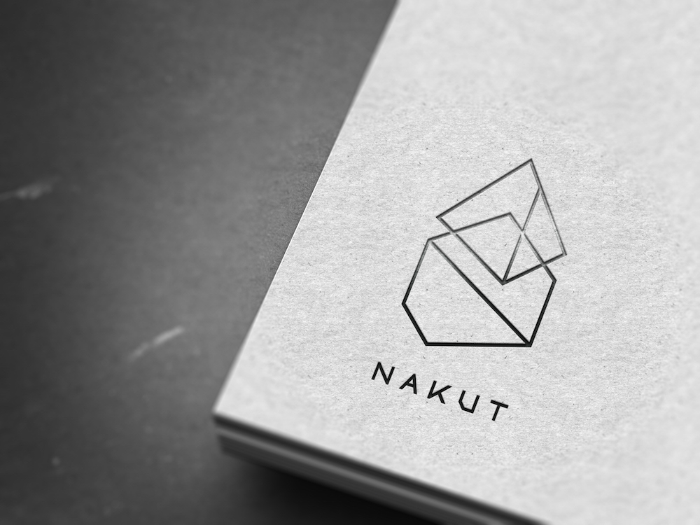 Nakut logo - Print Mokup (black on white)